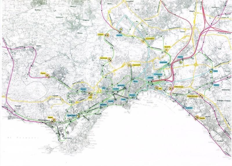 Napoli Subway Map.Naples Metro System