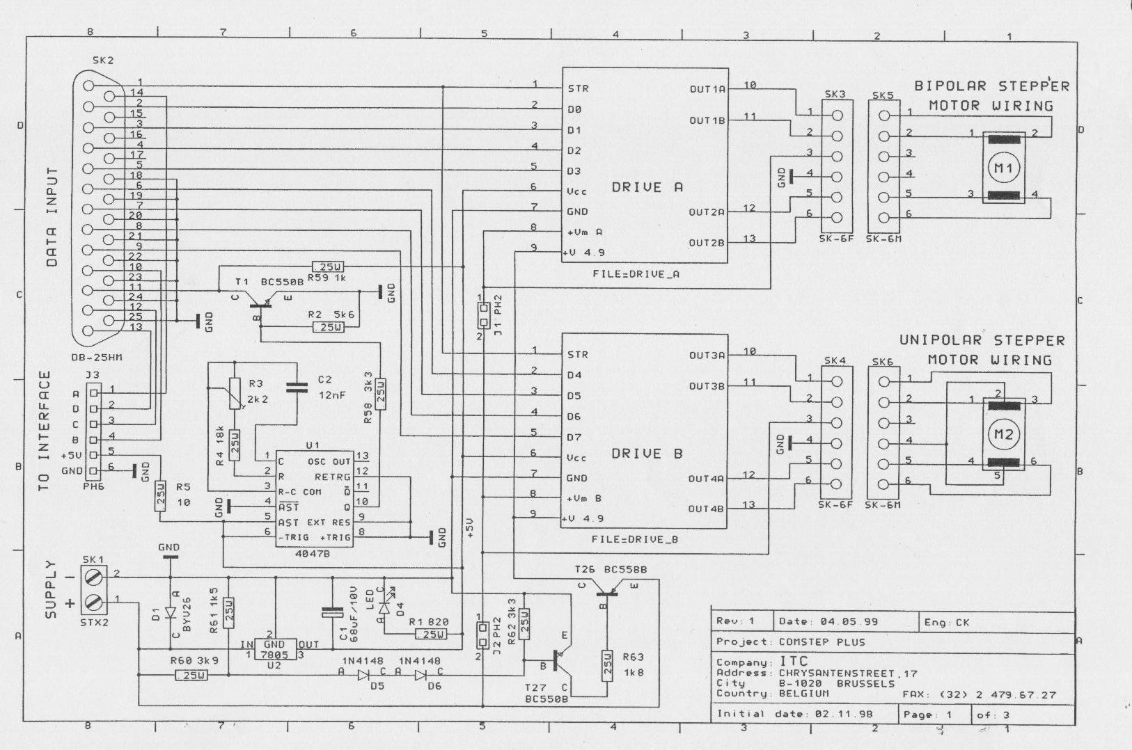 Schema Elettrico Motore Avanti Indietro : Motori stepper