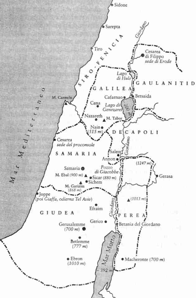 Cartina Fisica Palestina.Sulle Tracce Di Gesu Di Nazareth