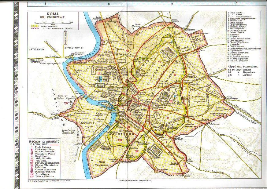 Cartina Antica Roma.Mappa Italia Antica Roma