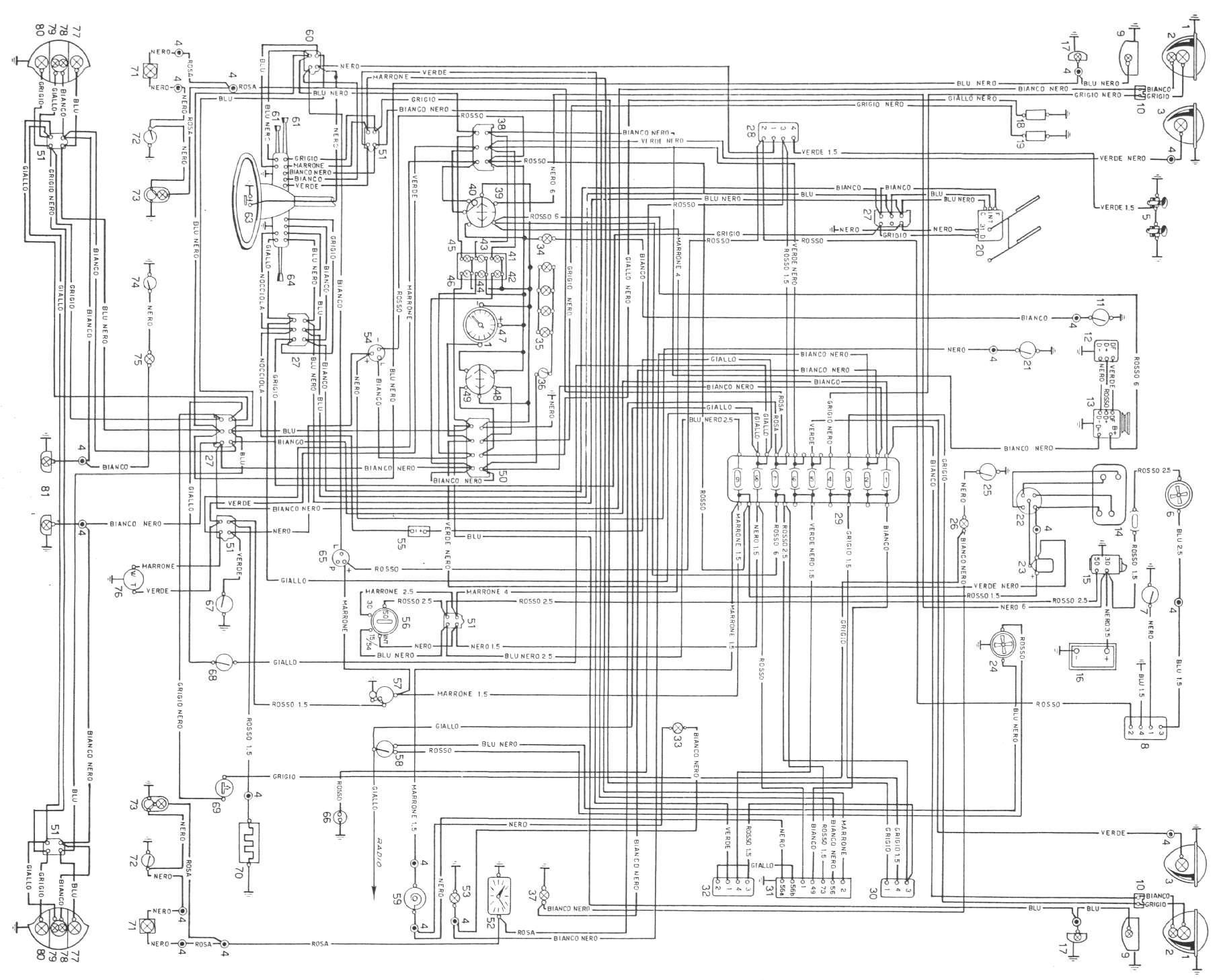 Schema Elettrico Alzacristalli Fiat Grande Punto : Manuale lancia fulvia
