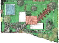 Progetti il giardino di quitton - Progetto giardino mediterraneo ...