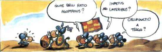 ExCathedra -> Il fumetto satirico in latino: http://web.tiscalinet.it/rogazionistipadova/cathedra/gio3/20.htm