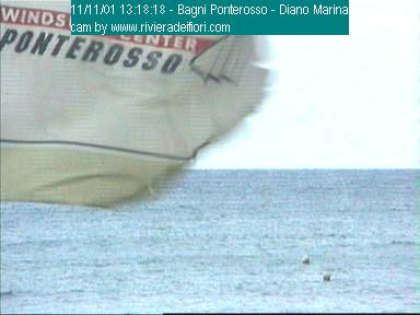 Diano Marina webcam - Bagni Ponterosso webcam, Liguria, Imperia