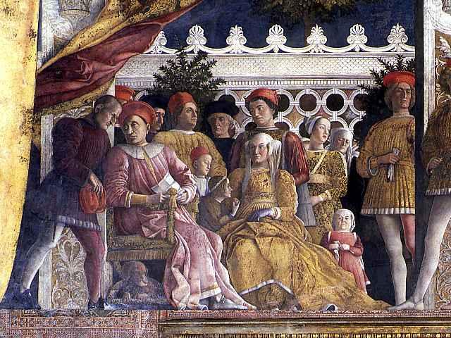 Ludovico ii e barbara di brandeburgo dalla camera degli sposi for Mantova camera sposi